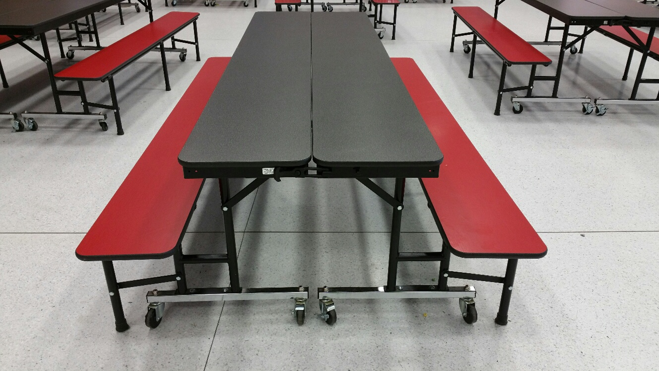 Cafeteria convertable bench 2